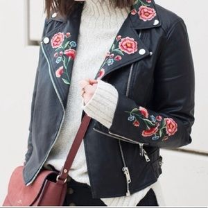 💎Embroidered Leather Jacket💎